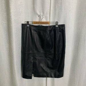 Worthington lambskin leather pencil skirt